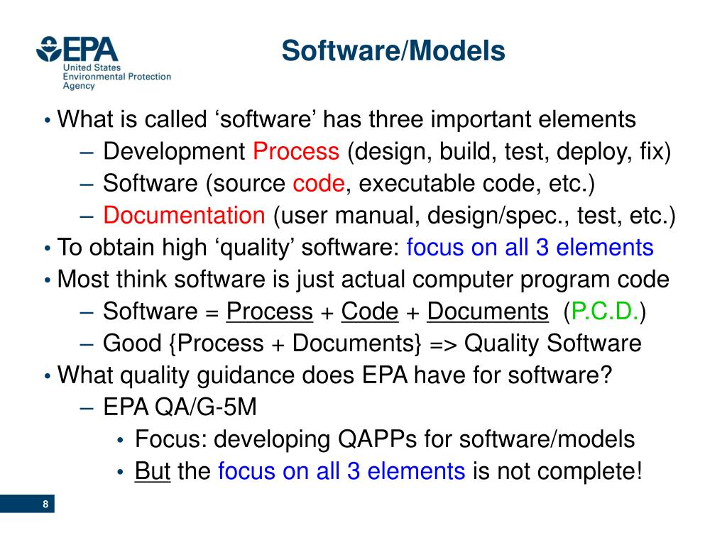 What is called 'software' has three important elements