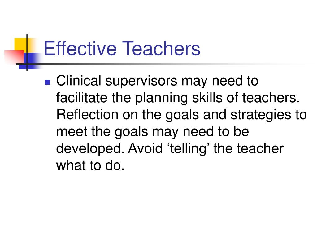 reflection on clinical supervision