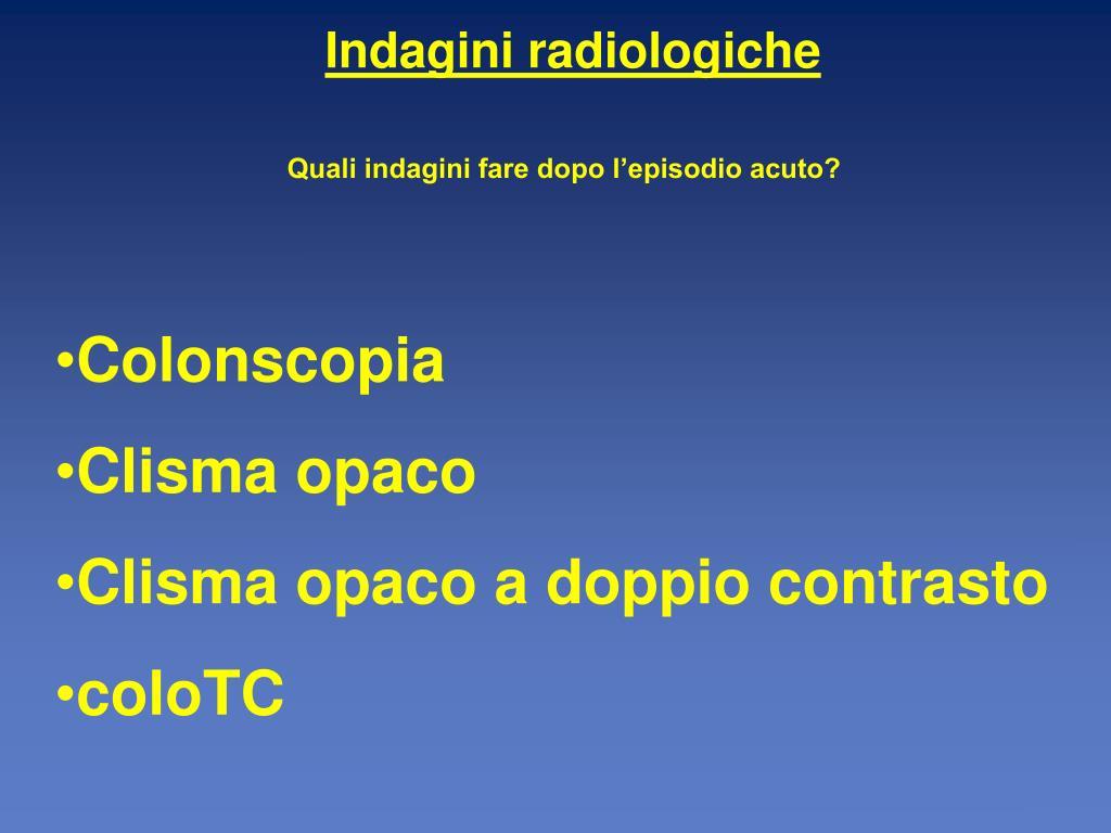 Indagini radiologiche