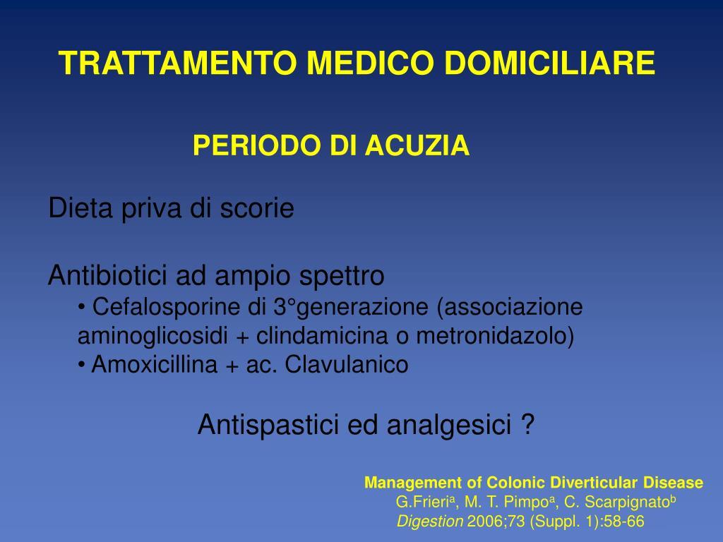 TRATTAMENTO MEDICO DOMICILIARE