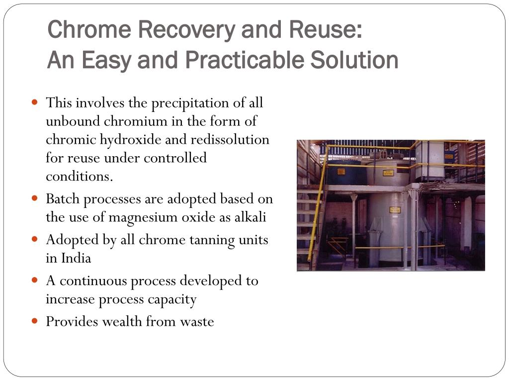 Chrome Recovery and Reuse: