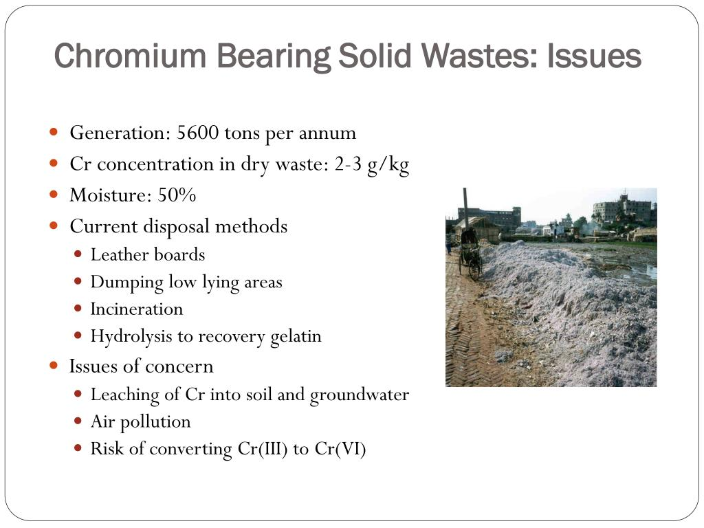 Chromium Bearing Solid Wastes: Issues