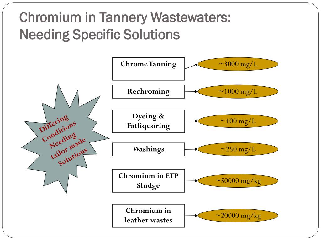 Chromium in Tannery Wastewaters: Needing Specific Solutions