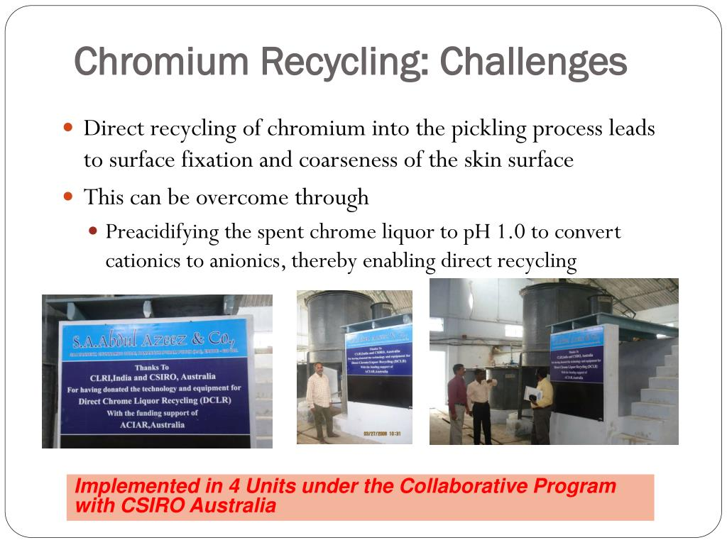 Chromium Recycling: Challenges