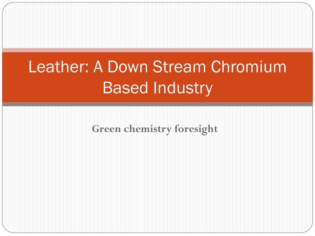 Leather: A Down Stream Chromium Based Industry