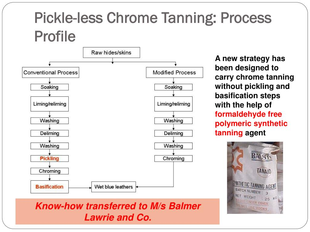 Pickle-less Chrome Tanning: Process Profile