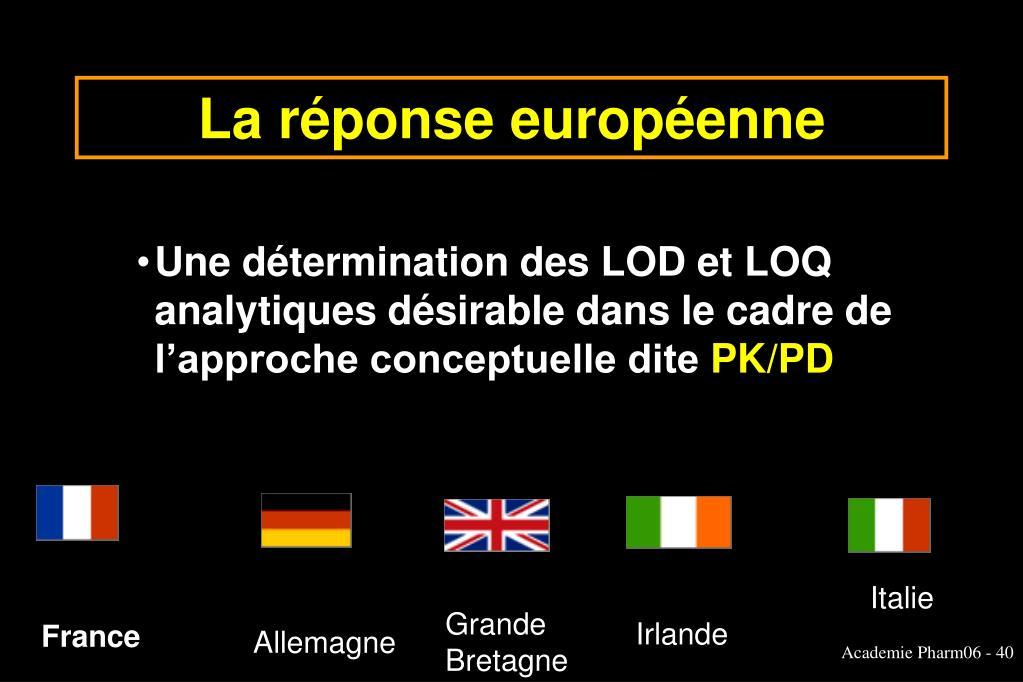 La réponse européenne