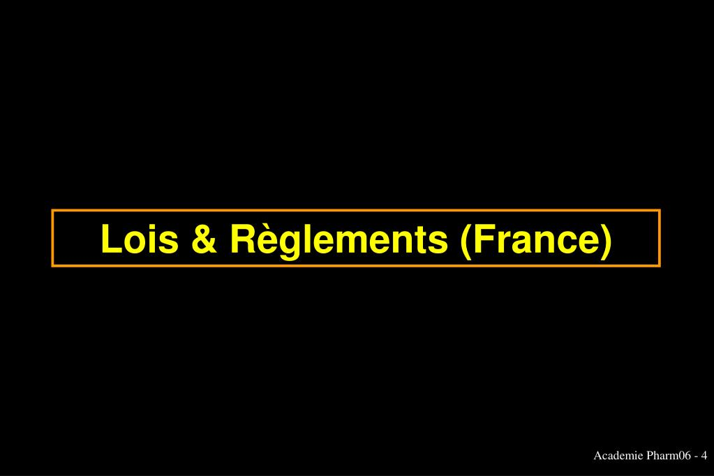 Lois & Règlements (France)