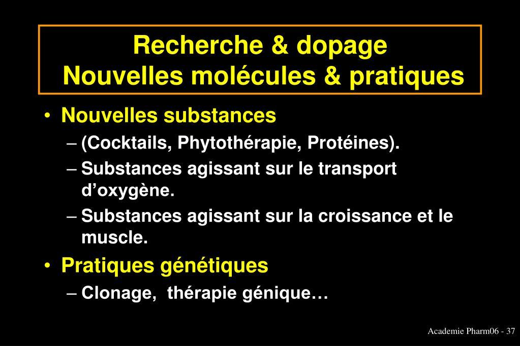 Recherche & dopage