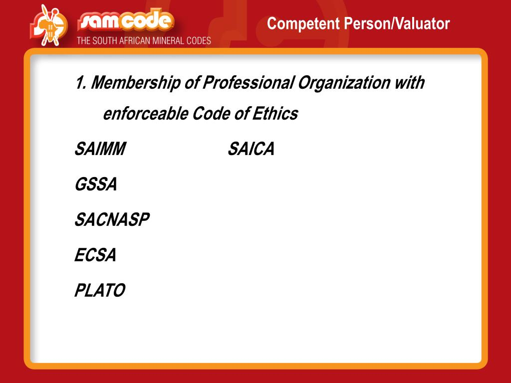 Competent Person/Valuator
