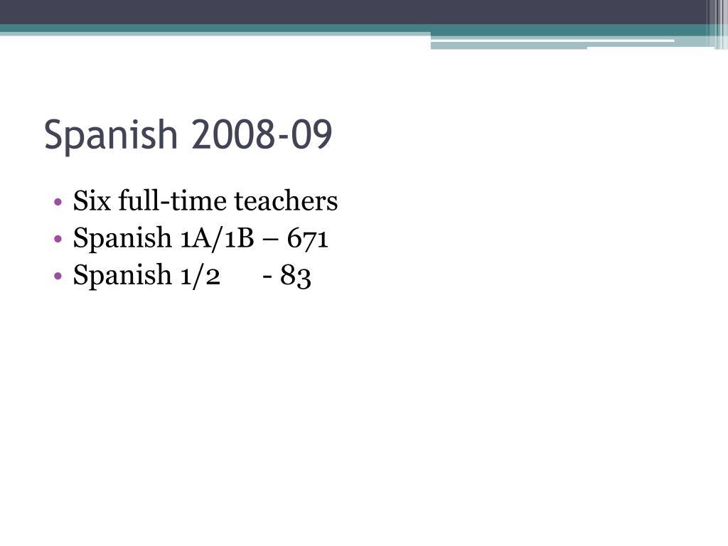Spanish 2008-09