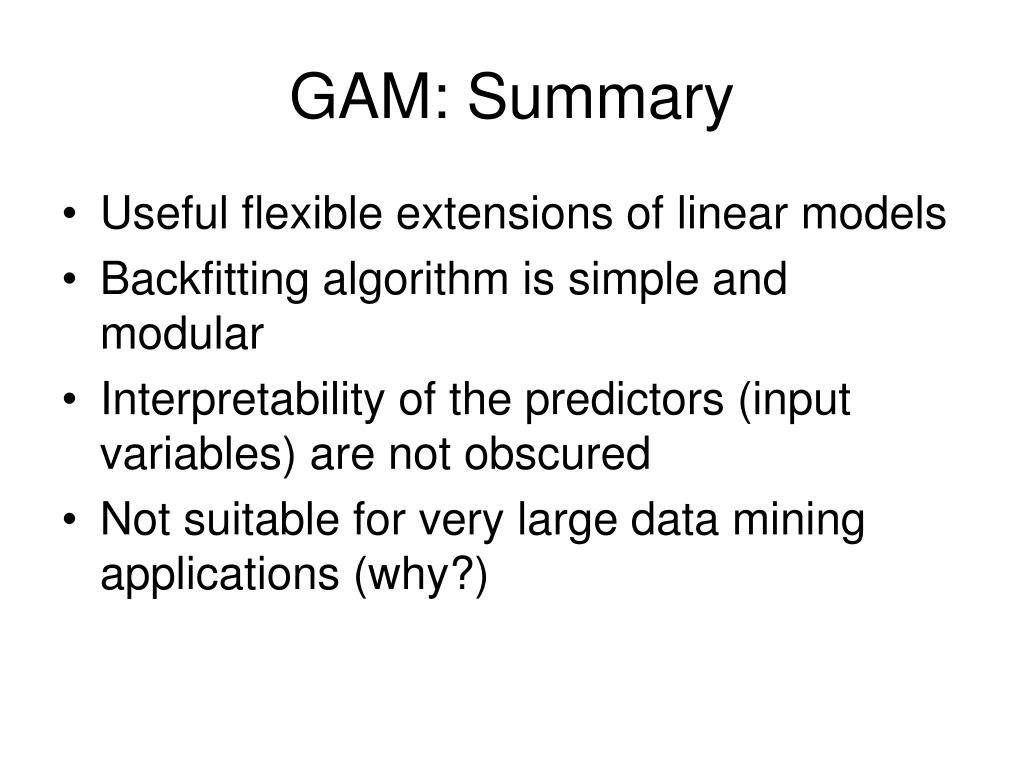 GAM: Summary