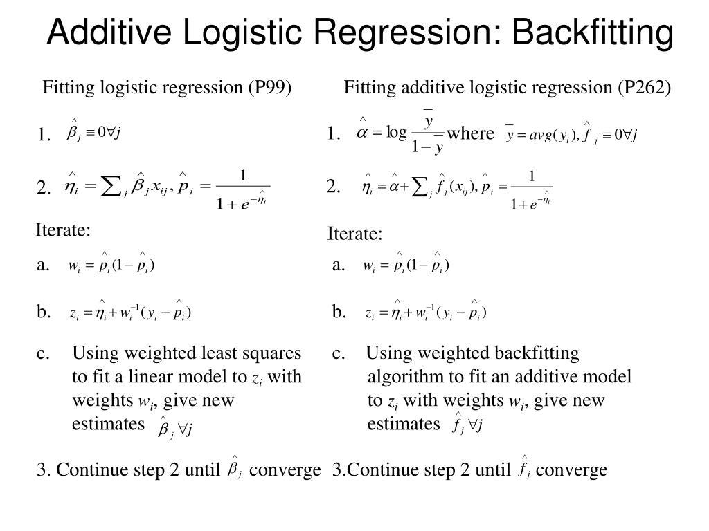 Additive Logistic Regression: Backfitting