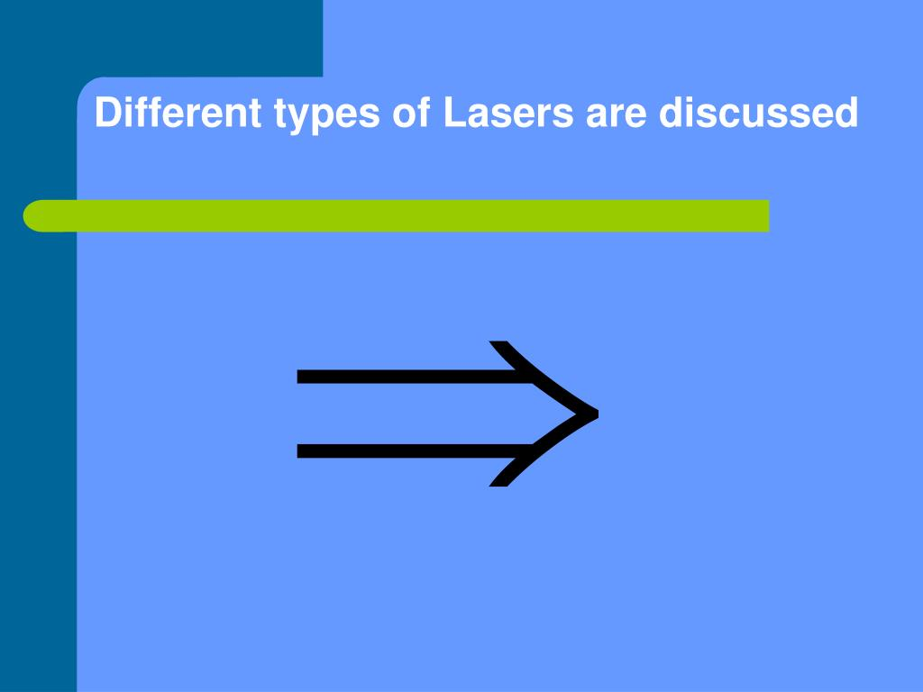 description of various types of lasers There are 3 main types of welding used than tig welding and then laser welding and electron beam welding in all the different types of welding.