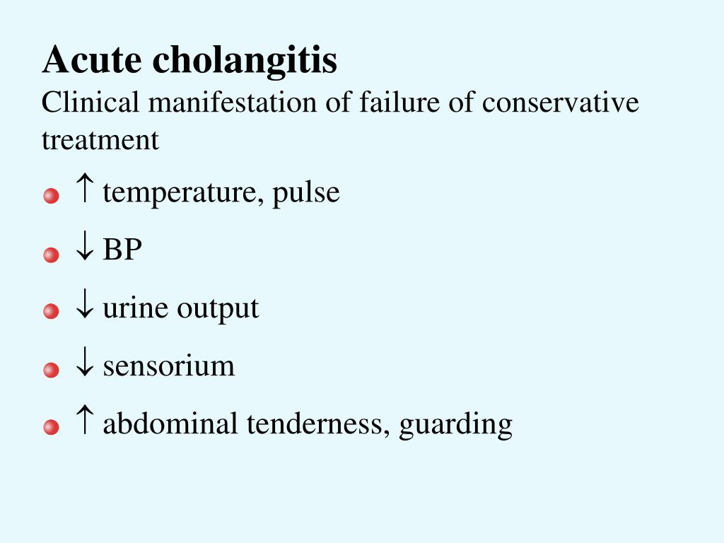 Acute cholangitis