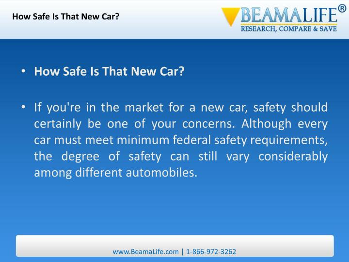 How Safe Is That New Car