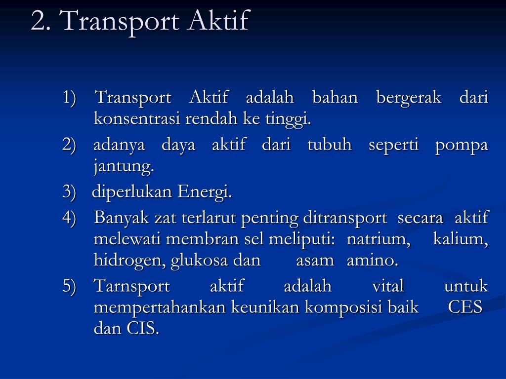 2. Transport Aktif