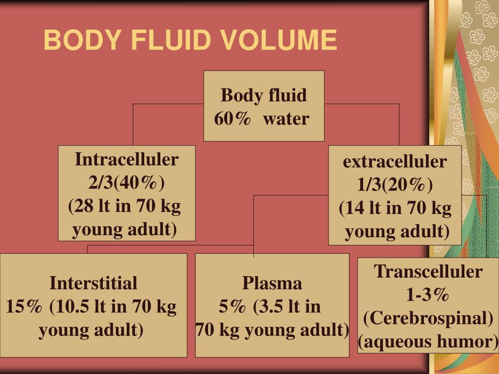 BODY FLUID VOLUME