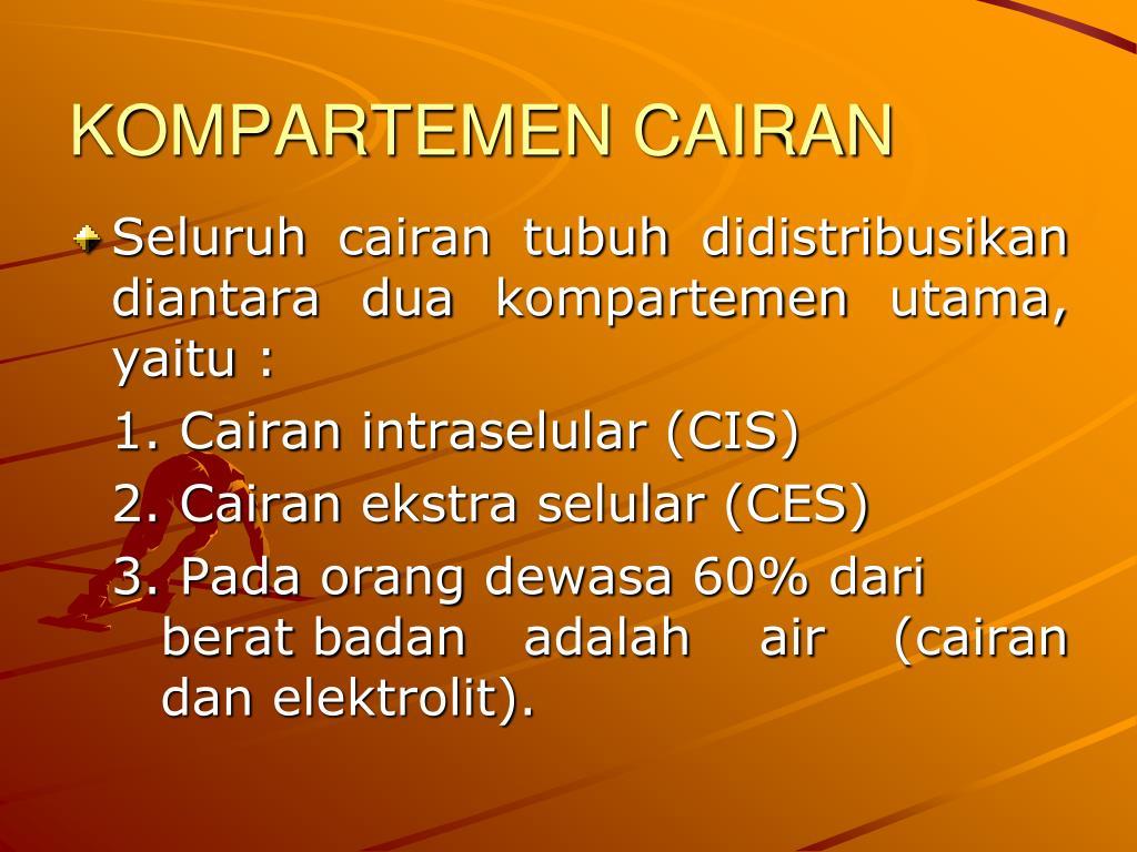KOMPARTEMEN CAIRAN