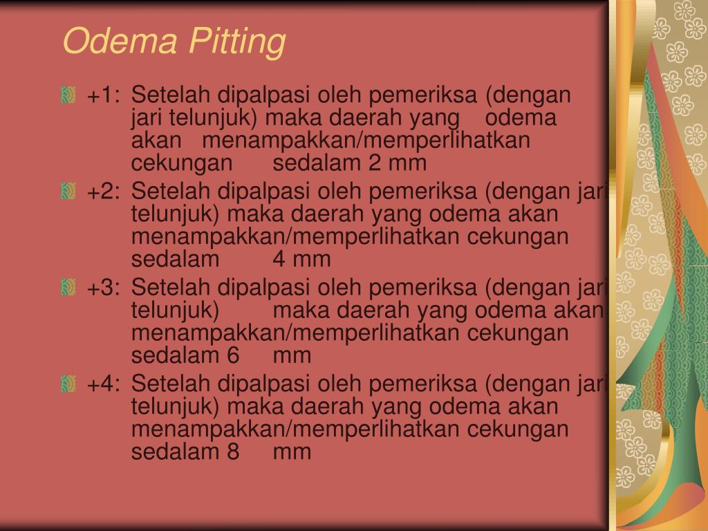 Odema Pitting