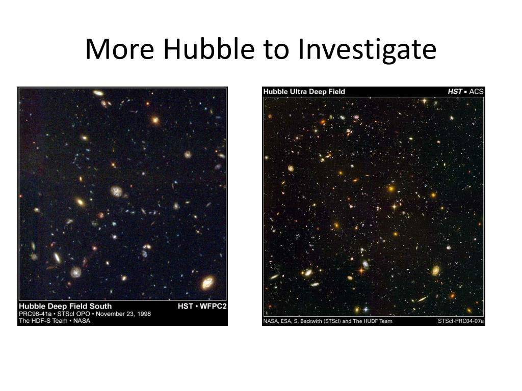 More Hubble to Investigate