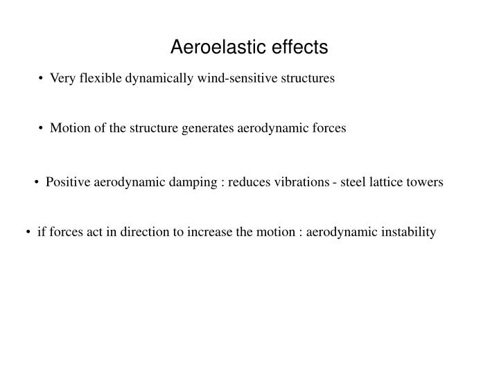 Aeroelastic effects1