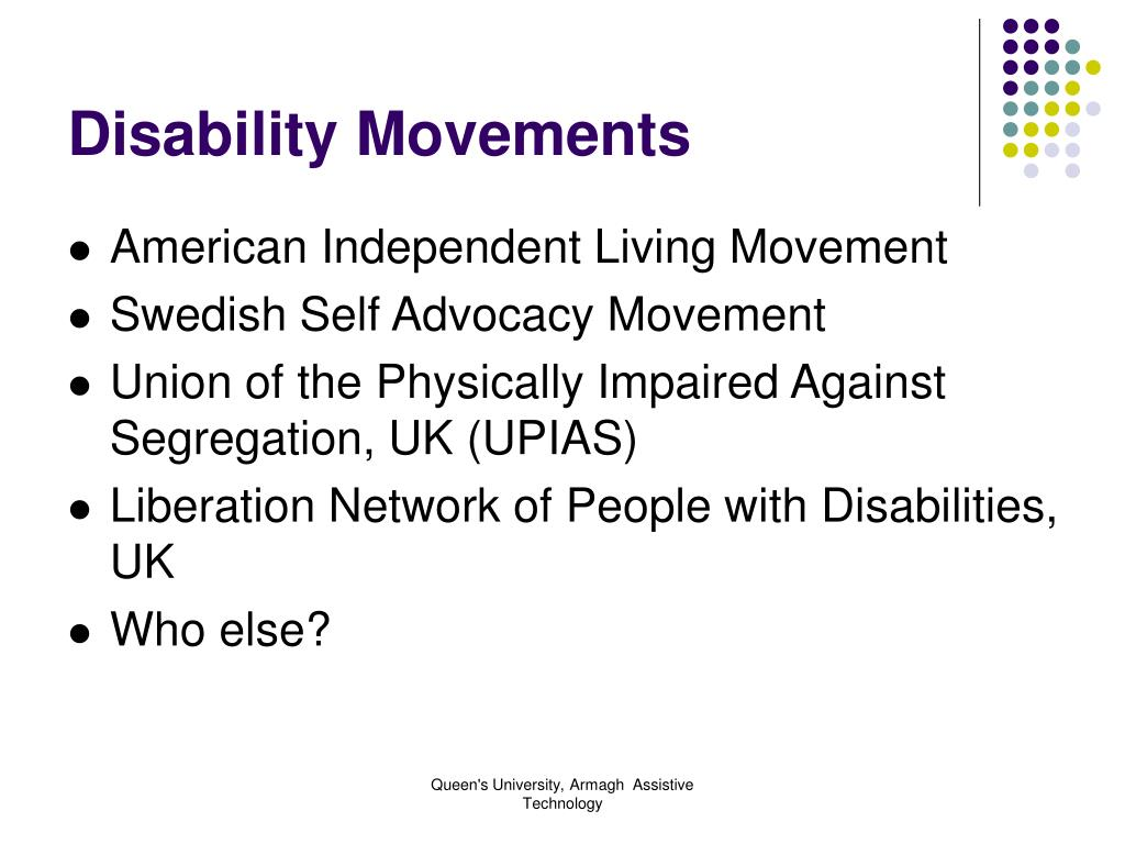 Disability Movements