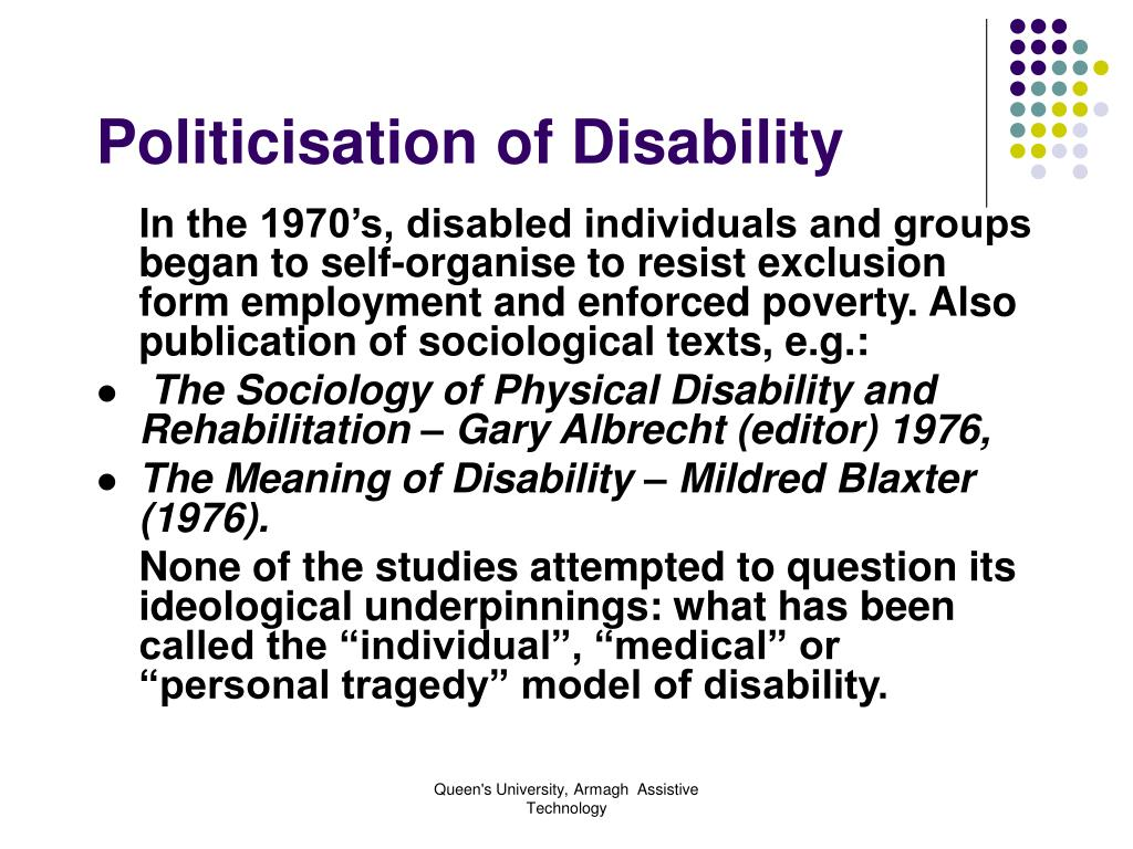 Politicisation of Disability
