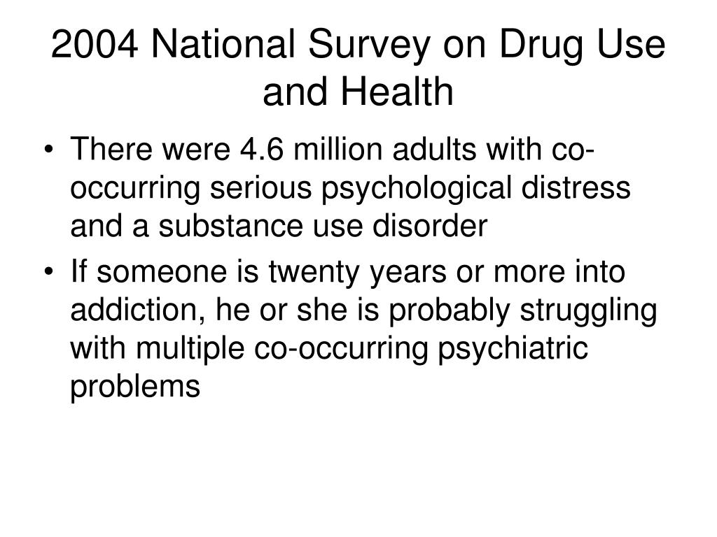 2004 National Survey on Drug Use and Health