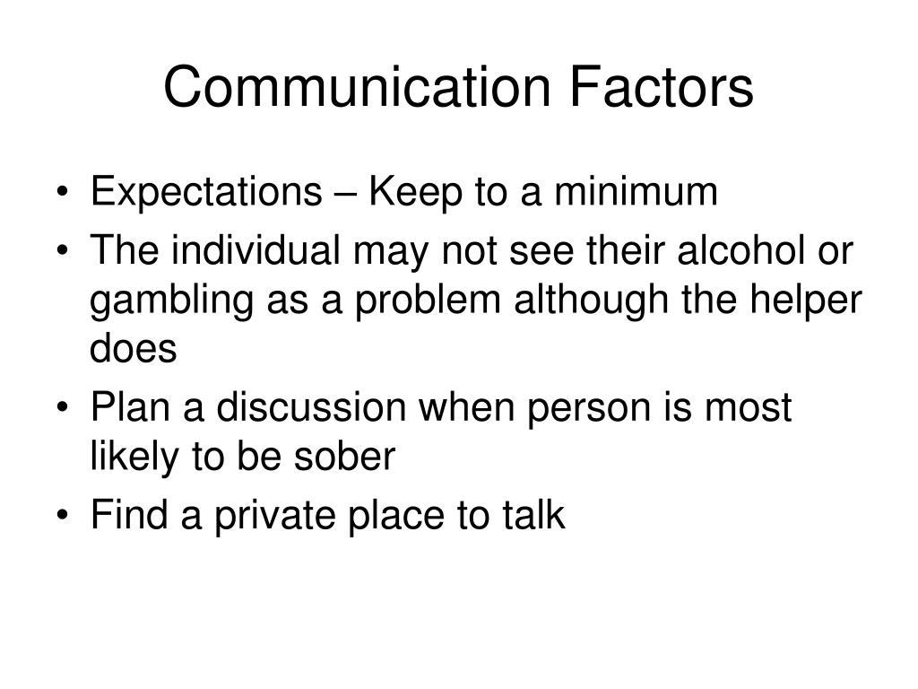 Communication Factors