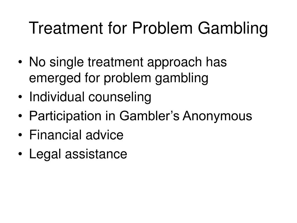 Treatment for Problem Gambling