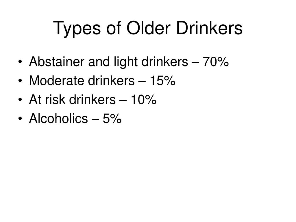 Types of Older Drinkers