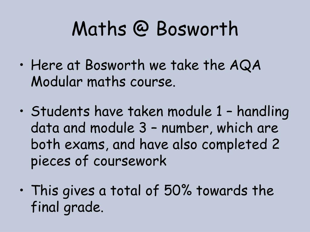 Maths @ Bosworth