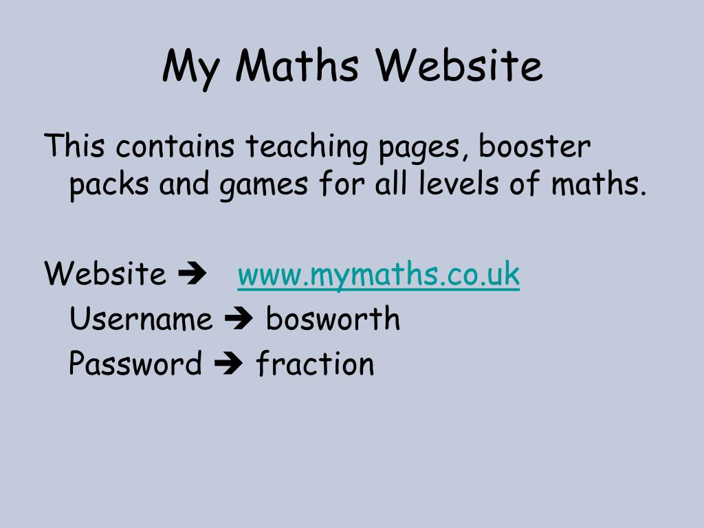 My Maths Website