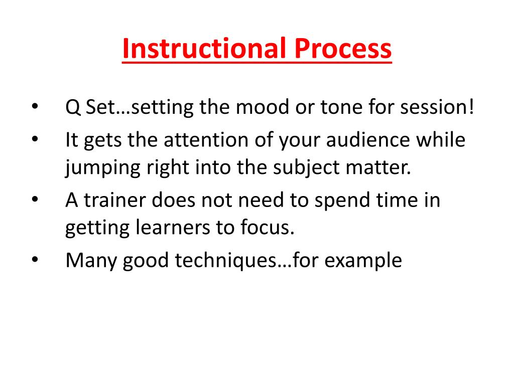 Instructional Process