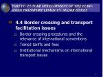 part iv future development of the euro asian transport linkages major issues11