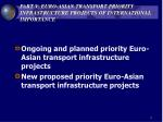 part v euro asian transport priority infrastructure projects of international importance