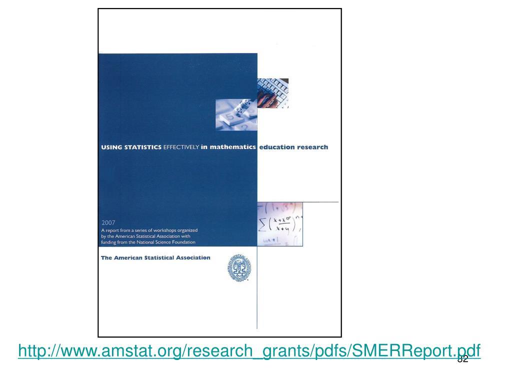 http://www.amstat.org/research_grants/pdfs/SMERReport.pdf