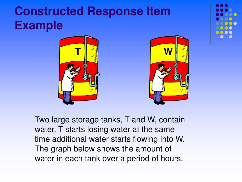 Constructed Response Item Example