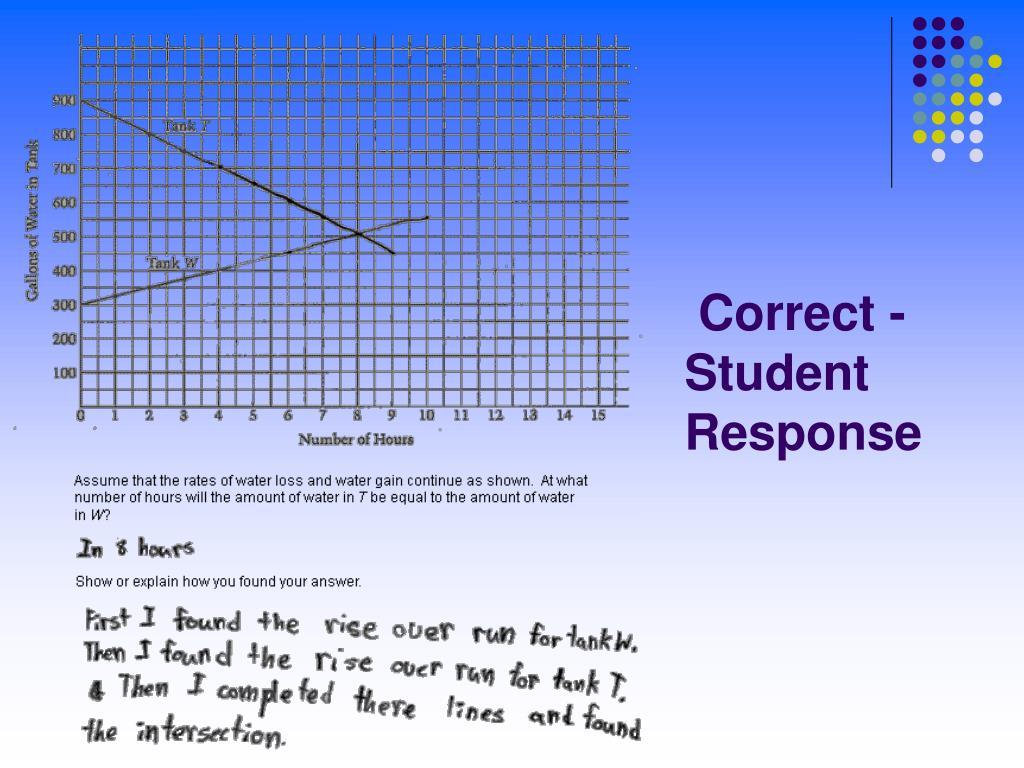 Correct - Student Response