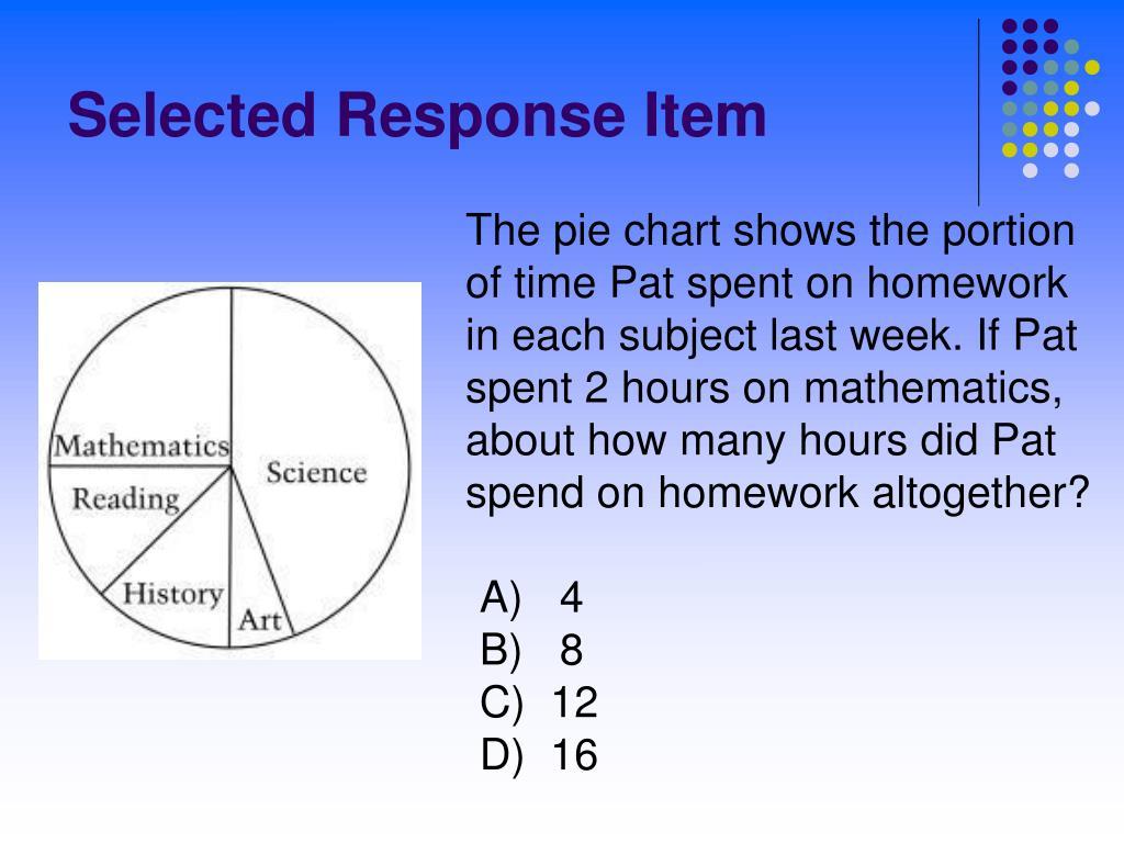 Selected Response Item
