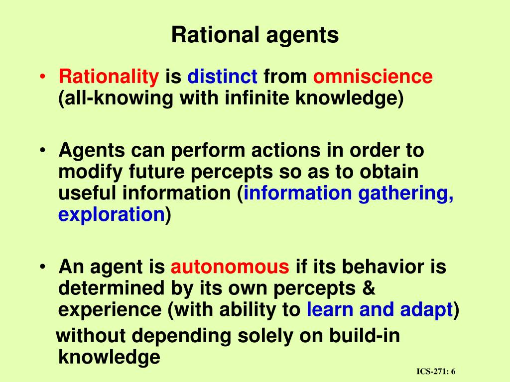 Rational agents