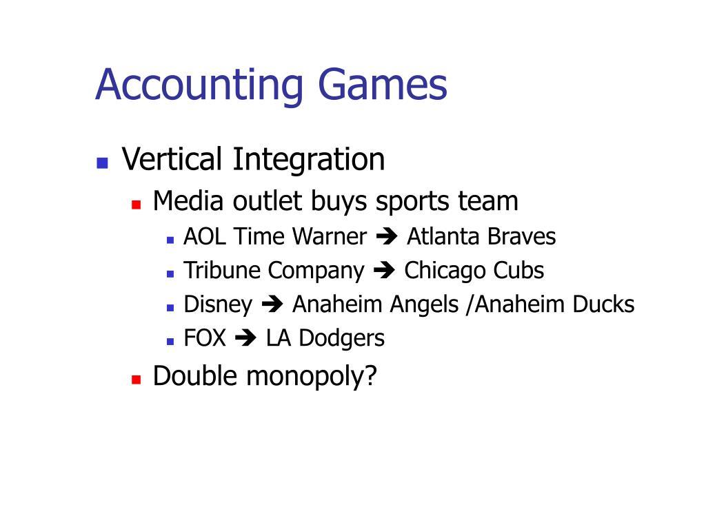 Accounting Games