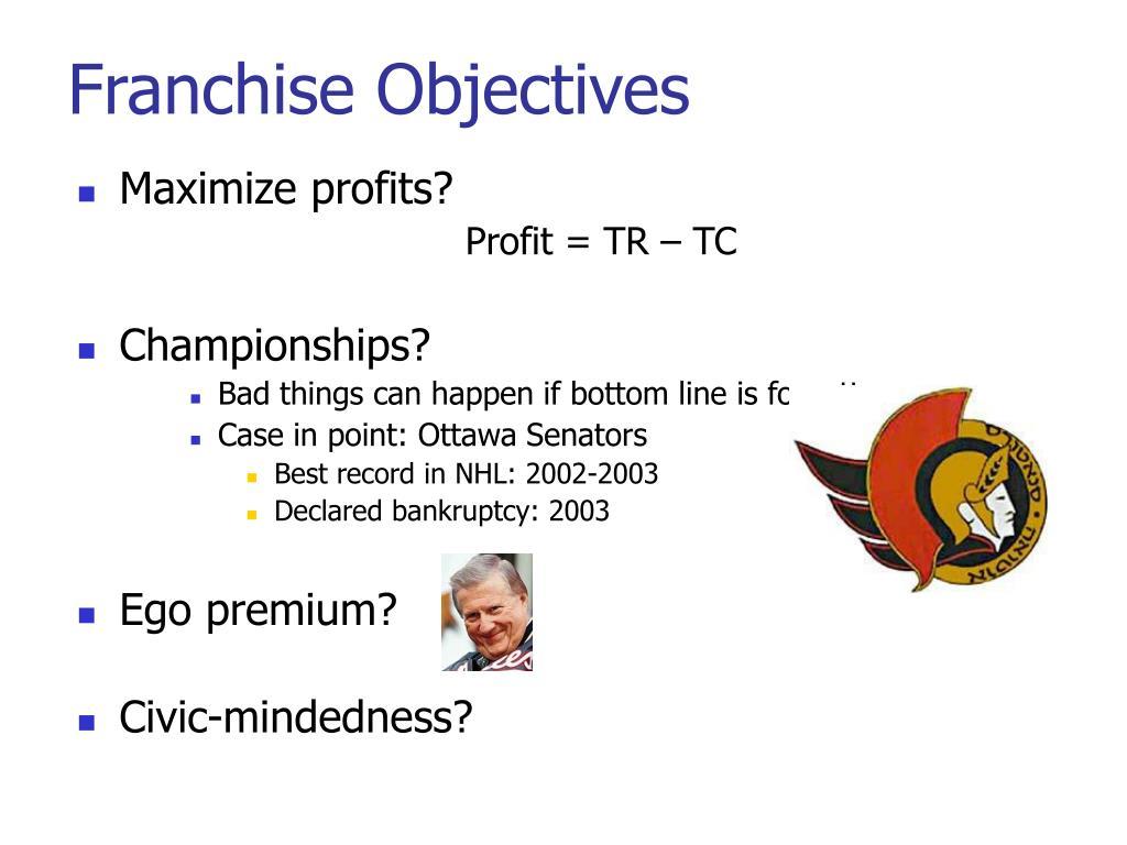 Franchise Objectives
