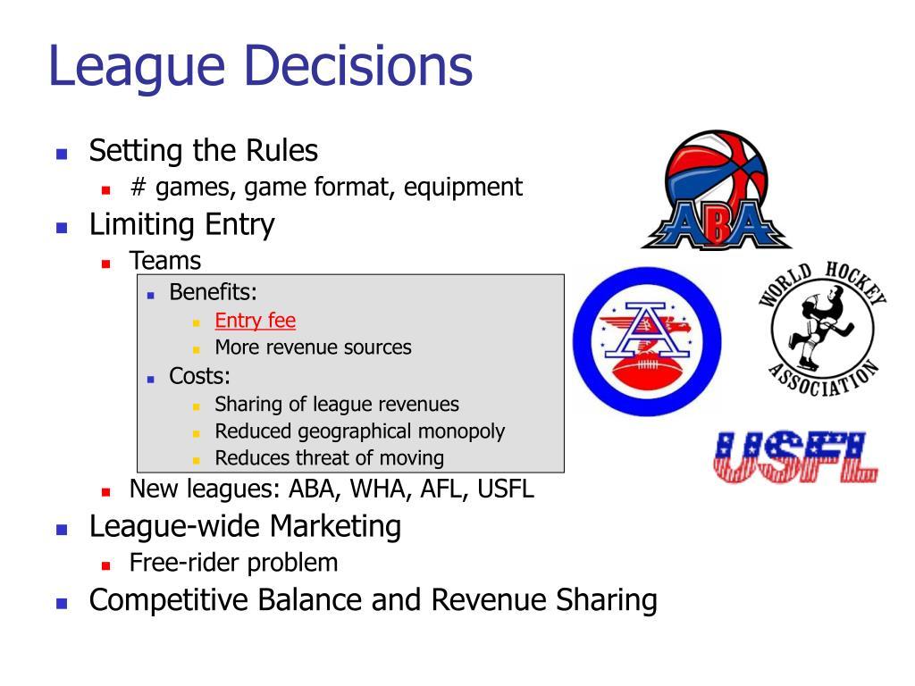 League Decisions