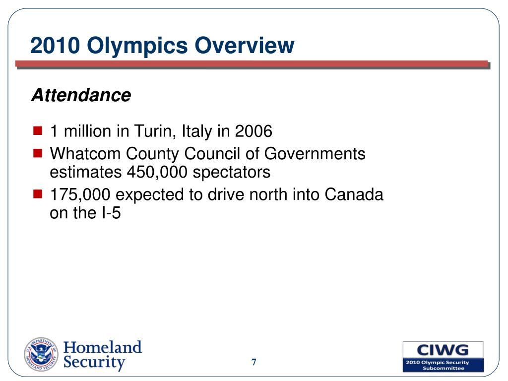 2010 Olympics Overview
