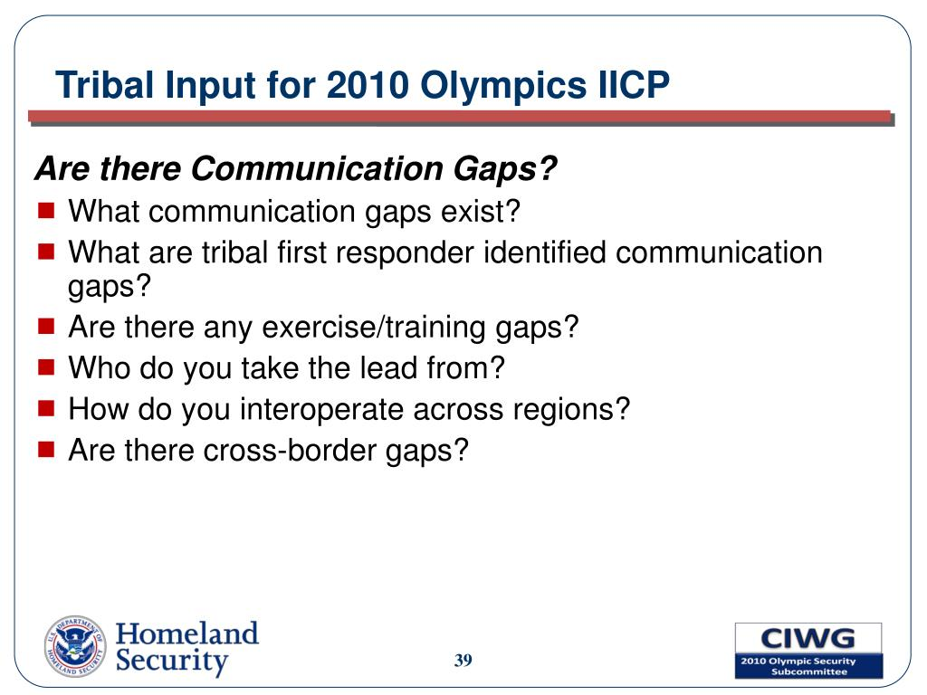 Tribal Input for 2010 Olympics IICP