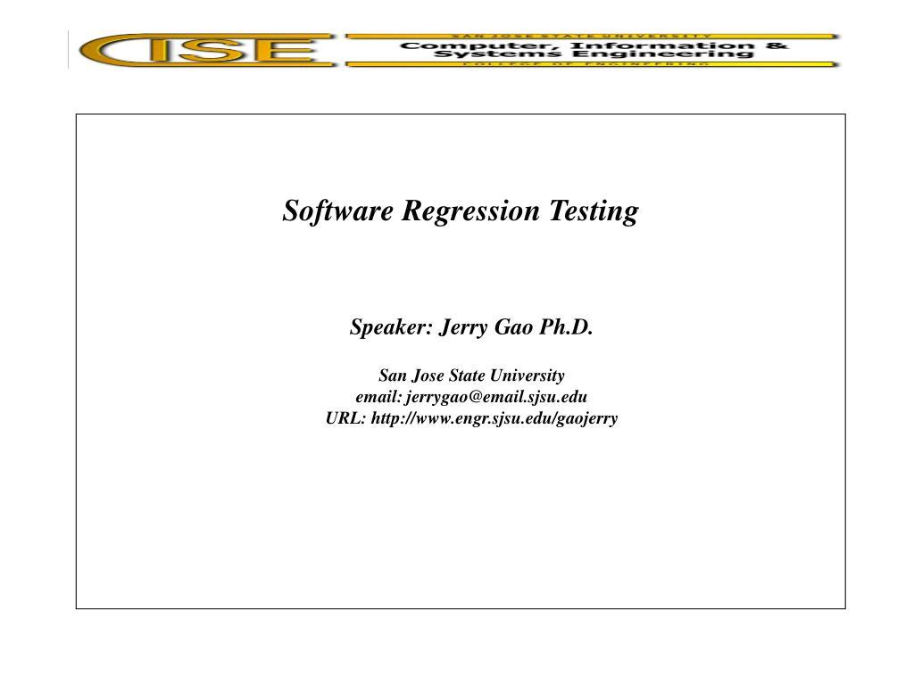 Software Regression Testing