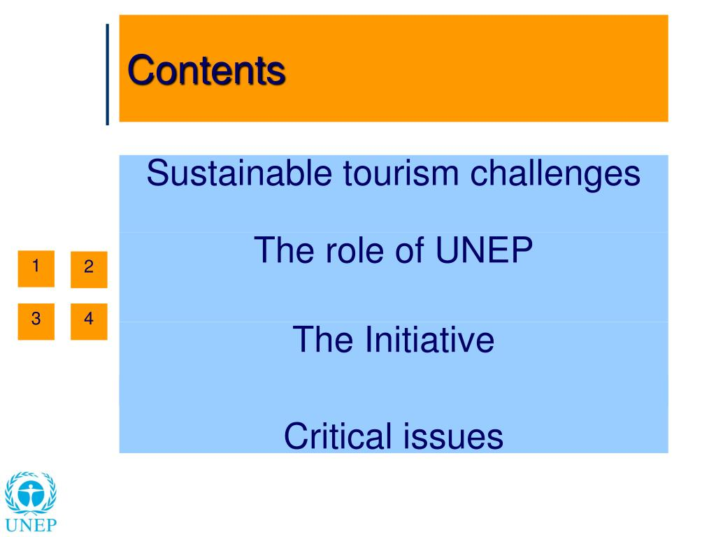 Sustainable tourism challenges