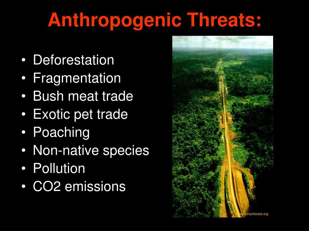 Anthropogenic Threats: